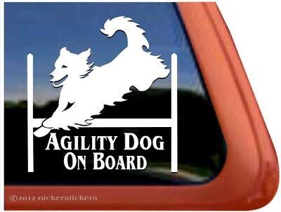 Golden Retriever Agility - Agility Dog On Board | Golden Retriever Agility Dog High Quality Vinyl Decal
