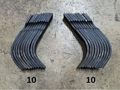 10 Each LH&RH Replacement Tines for Bush Hog RTS/RTL Tiller # 64454 and 64452