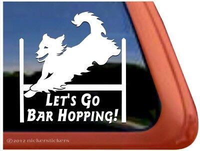 Golden Retriever Agility - Let's Go Bar Hopping! | Golden Retriever Agility Dog High Quality Vinyl Decal
