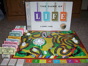 Vintage board Game - The game of LIFE - English