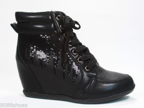 womens black sequin boots ebay