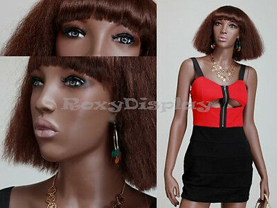 Female Fiberglass African Style Mannequin Dress Form Display Mya1-mz