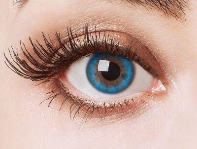 aricona Aqua blaue farbige Kontaktlinsen bunte farbig intensive Jahreslinsen (Bunte Kontaktlinsen)