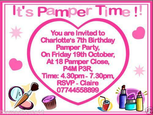 pamper party invitations  cards  u0026 stationery