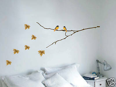 Wall Decal Tree Branch Birds Leaves Art Sticker Mural
