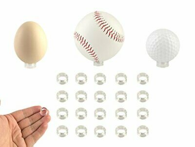Small Clear Display Stand Ring Holder 20 Pcs Round Beveled Dragon Golf Ball