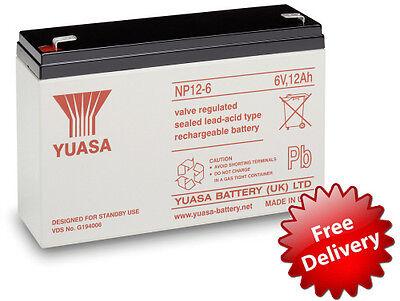 Yuasa 6V 12Ah Batería Peg Perego, Feber, Indusa - Juguete Eléctrico Coches