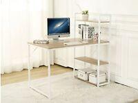 Vintage /Used/ 4-Tier Shelves Computer Desk Home Study Desktop Laptop Table Computer Workstation