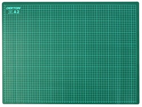 A2 Self Healing Non Slip Cutting Mat Craft Printed Grid Lines Knife Board