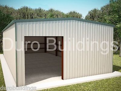 Durobeam Steel 25x48x12 Metal Residential Garage Workshop Building Kit Direct