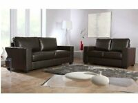 Free Delivery! Brand New Looks! Box Sofa 3 and 2 seater 3+2 sofa available in black brown