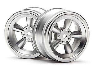NEW-HPI-Racing-Vintage-5-Spoke-Wheel-26mm-Matte-Chrome-2-3815-NIB