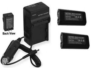 TWO-KLIC-8000-Batteries-Charger-for-Kodak-Z612-Z712-Z812-Z1012-Z1085-Z1485-IS