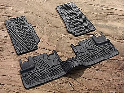 - 2007 - 2013 Jeep Wrangler Four Door Slush Style Floor Mats, Winter Mats