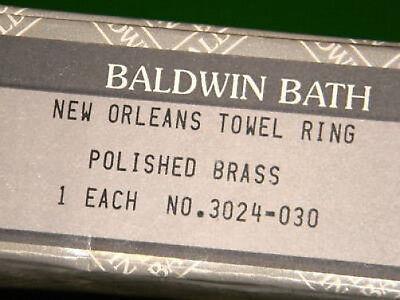 Baldwin Bath 3024-030 New Orleans Towel Ring  NIB ()