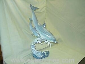 Country-Artists-The-Natural-World-Dolphin-And-Calf-LARGE-Ornament-Figure