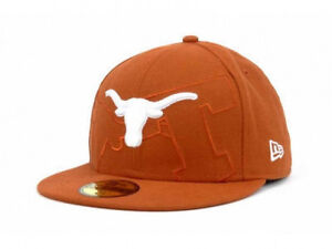 Texas-Longhorns-Trilogy-NCAA-BEVO-Dark-Orange-Fitted-Hat-Cap-University-TX-HORNS