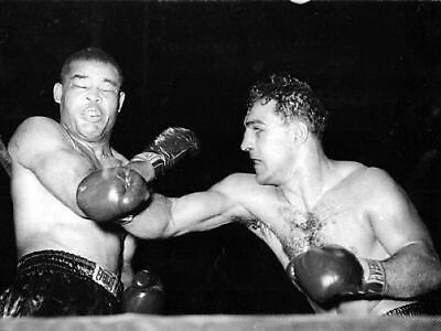 Rocky Marciano Joe Louis 10x8 Photo