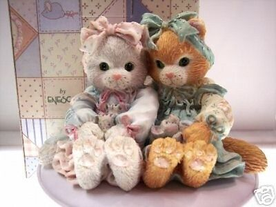 Calico Kittens WE'RE A PURR-FECT PAIR 627925 MIB 1992 ** FREE USA SHIPPING