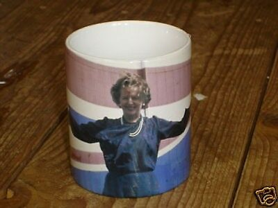 Margaret Thatcher in Front of Union Jack Maggie NEW MUG