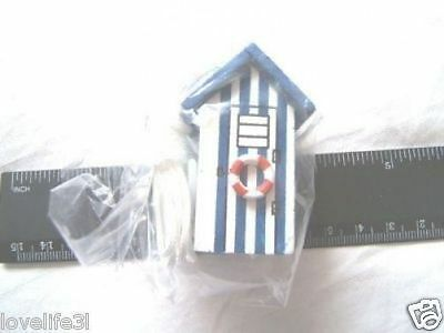 BEACH HUT CORD PULL LIGHT SWITCH TOILET BATHROOM SWITCH BLUE WHITE SEASIDE HOUSE White Beach Hut