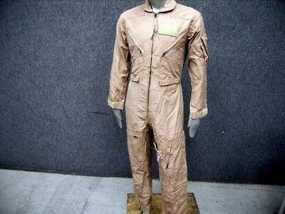 US NAVY ARMY NOMEX Flight Suit CWU-27/P Tan Flyers Coveralls 48L Long Mechanic