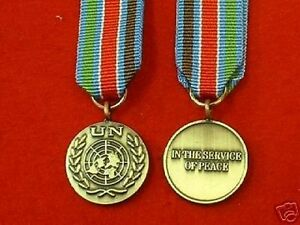 Quality-UN-Bosnia-Miniature-Medal-Military-Medals-Miniature-medals