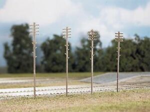 Ratio 452 Telegraph Poles x 16 '00' Gauge = 1/76 Scale Plastic Kit New