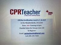 CPR Renewal for $35 in Ancaster