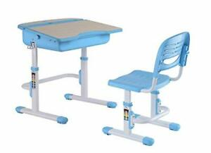 Adjustable Height Student School Desk and Chair Set