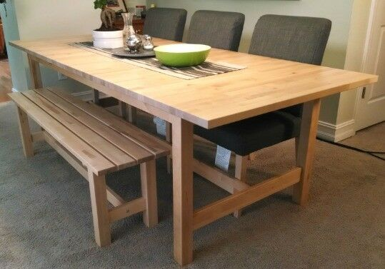 Ikea norden birch very large table 2 5 3m extendable in liverpool merseyside gumtree - Table ikea norden ...