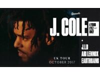 2 x J. COLE 16/10 LONDON O2 SEATED TICKETS.