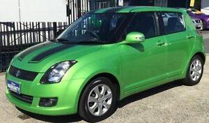 2010 Suzuki Swift EZ X-TREME MANUAL VERY LOW KLMS Green 5 Speed Manual Hatchback Underwood Logan Area Preview