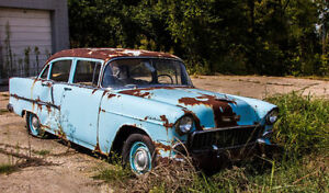 WANTED 1955 Chevrolet Sedan PARTS CAR