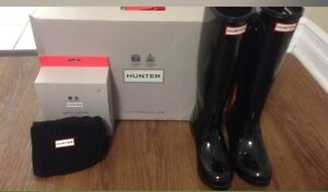 Hunter boots with socks