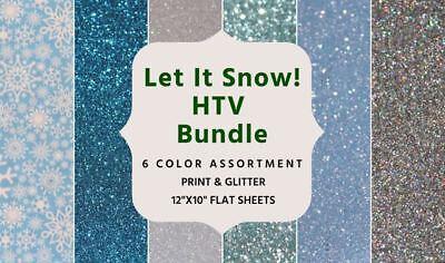 Winter Coloring Sheet (Let It Snow Heat Transfer Vinyl Bundle- Winter Colors- 10x12)