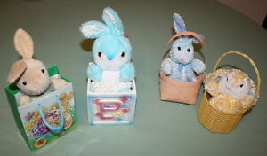4 pcs Easter Bunnies in a Basket $5.00 or Best Offer