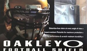 Oakley football visor 20% sealed in box 50$