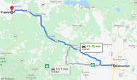 Rideshare to Grande Prairie with a big truck / trailer