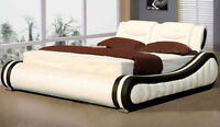 European Genuine Leather and Fabric BedFrames (INSTOCK)*