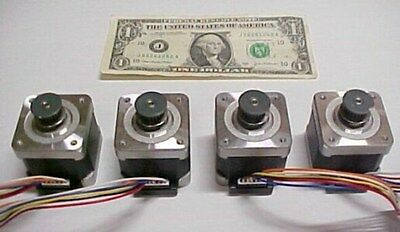 Lot Of 4 Step Motors Diy Cnc Milling Automation Robot 42mm Square 2 Phase New