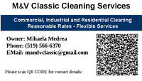 M & V Classic Cleaning Services looking to clean houses