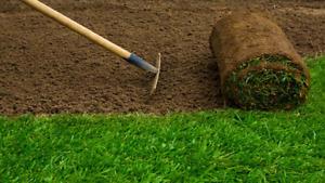 Installation de tourbe/pelouse/gazon et entretien paysager et en