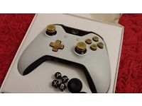 Official Xbox one Lunar white controller Modified Bullet buttons Faulty
