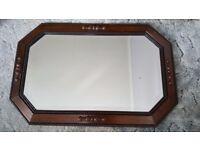Oak surround mirror