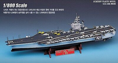 Academy 1/800 Scale CVN-70 USS CARL VINSON Plastic Model Kit 14209 NIB