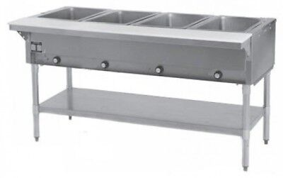 4 Well All Stainless Steel 240v Electric Steam Table