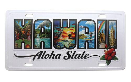 Hawaiian License Plate Hawaii Aloha State Novelty Island Wall Decor Tiki Bar NIB