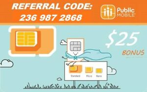 Public Mobile Referral Credit $25 - Free