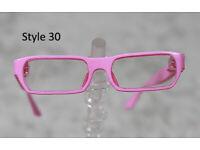 1//3 1//4 BJD SD 60cm 45 eye glasses eyeglasses Dollfie black frames clear lens 07